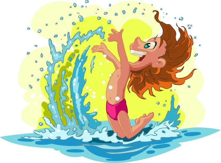 free vector cartoon children summer beach vector - Kids Cartoons Free