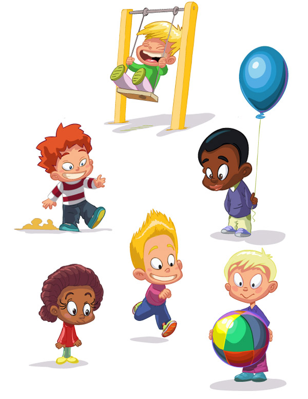 free vector Cartoon children vector