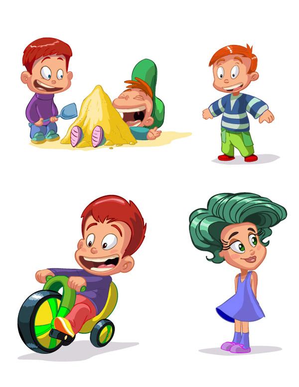 free vector cartoon children vector - Free Children Cartoon