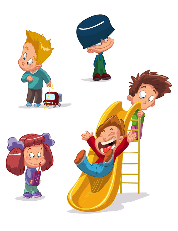 free vector cartoon children vector - Kids Images Free Download