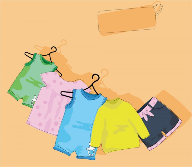 free vector Cartoon children39s clothing 05 vector