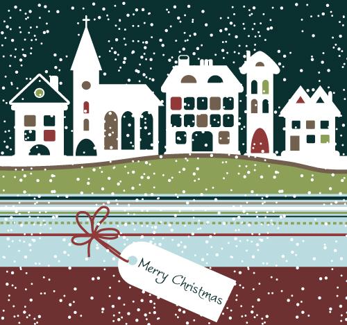 free vector Cartoon christmas background 01 vector