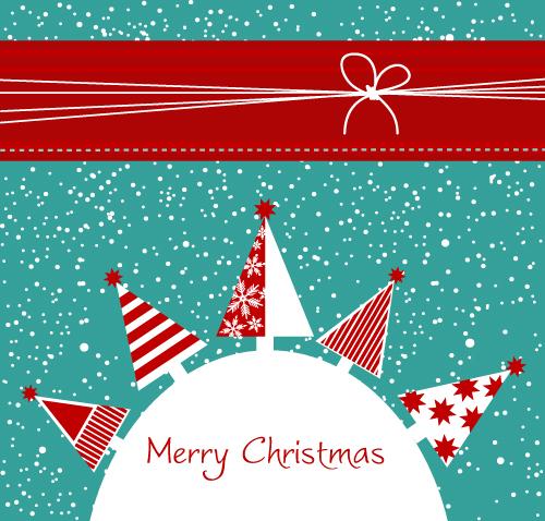 free vector Cartoon christmas background 02 vector