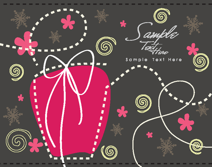 free vector Cartoon christmas background 03 vector