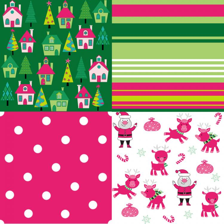 free vector Cartoon christmas background 04 vector