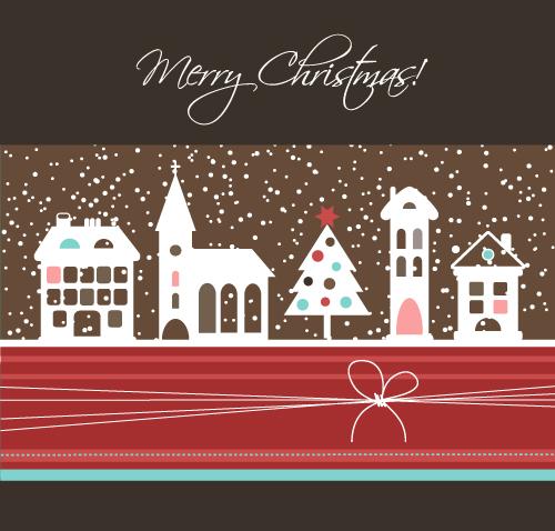 free vector Cartoon christmas background 05 vector