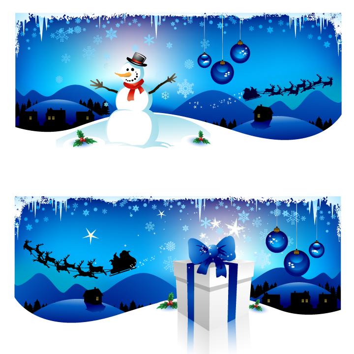 free vector Cartoon christmas background vector