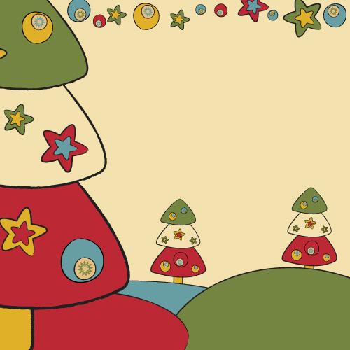 free vector Cartoon christmas design background 03 vector