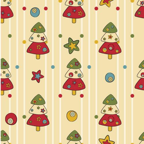 free vector Cartoon christmas design background 04 vector