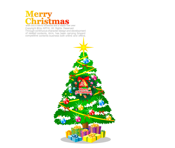 free vector Cartoon christmas element vector