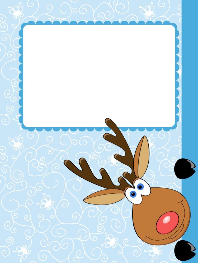 free vector Cartoon christmas elk 04 vector