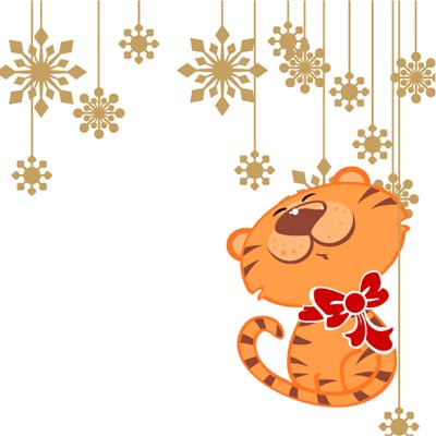 free vector Cartoon christmas ornaments vector