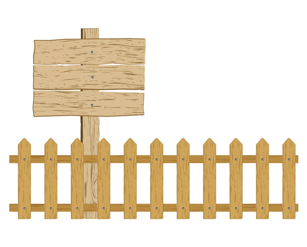 Cartoon clip art fence free vector