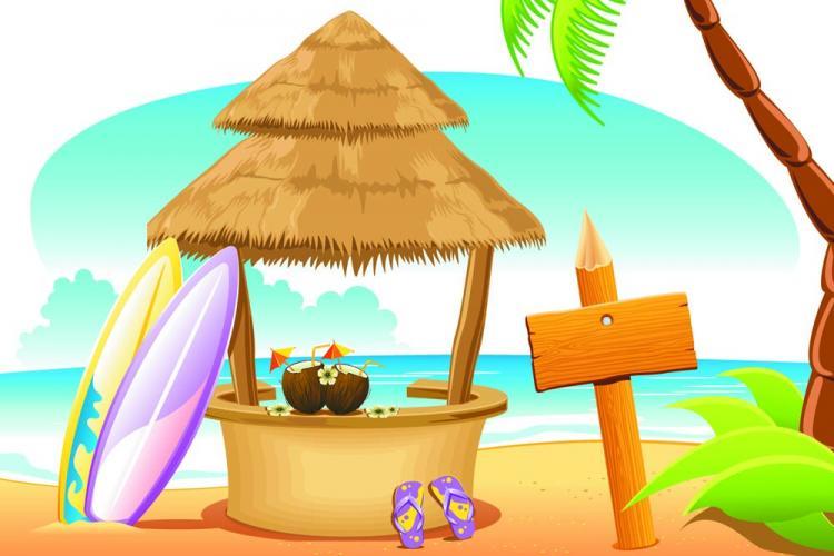 free vector Cartoon coastline 01 vector