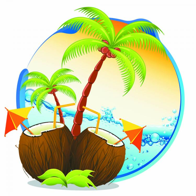 free vector Cartoon coastline 02 vector