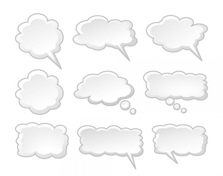 free vector Cartoon dialog box vector