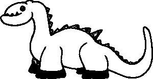 free vector Cartoon Dinosaur clip art 128110