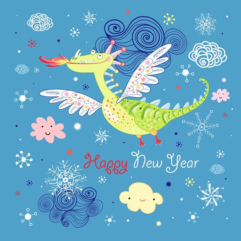free vector Cartoon dinosaur illustrator background 01 vector