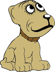 free vector Cartoon Dog clip art