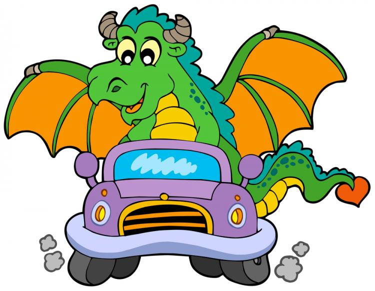 free vector Cartoon dragon 01 vector