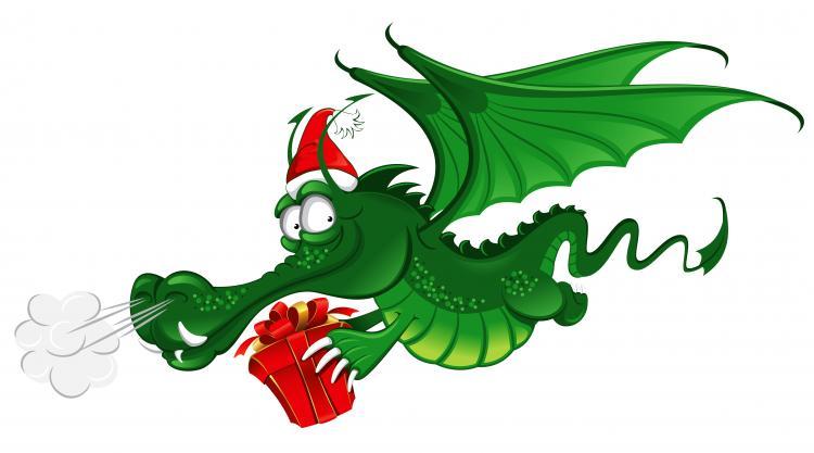 free vector Cartoon dragon 02 vector