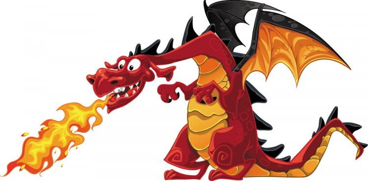 free vector Cartoon dragon image 01 vector