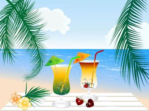 free vector Cartoon drink 02 vector