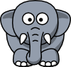 free vector Cartoon Elephant clip art