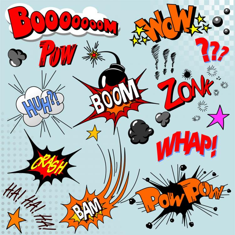 free vector Cartoon explosion pattern 04 vector