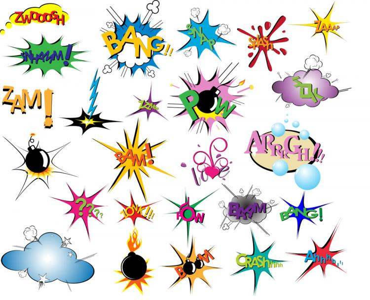 free vector Cartoon explosion pattern 05 vector