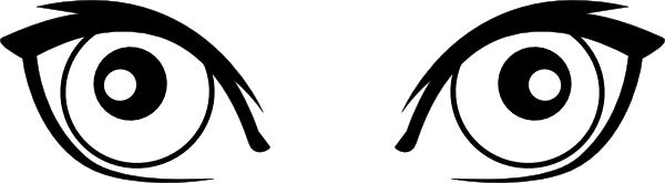 free vector Cartoon Eyes clip art