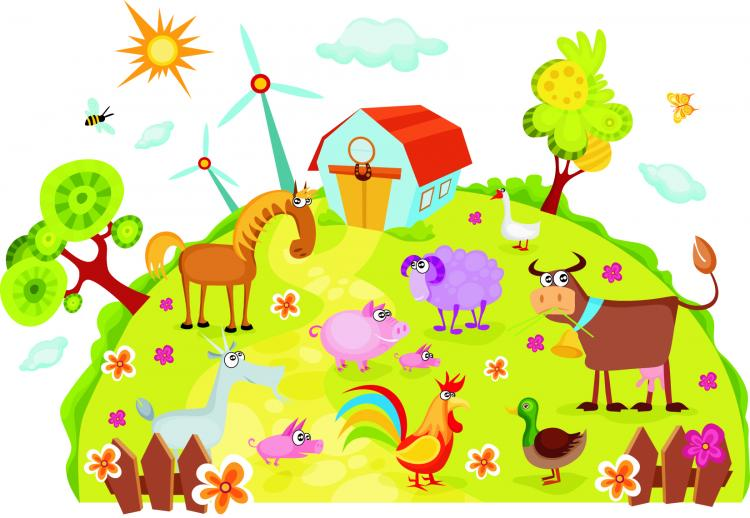 free vector Cartoon farm 01 vector