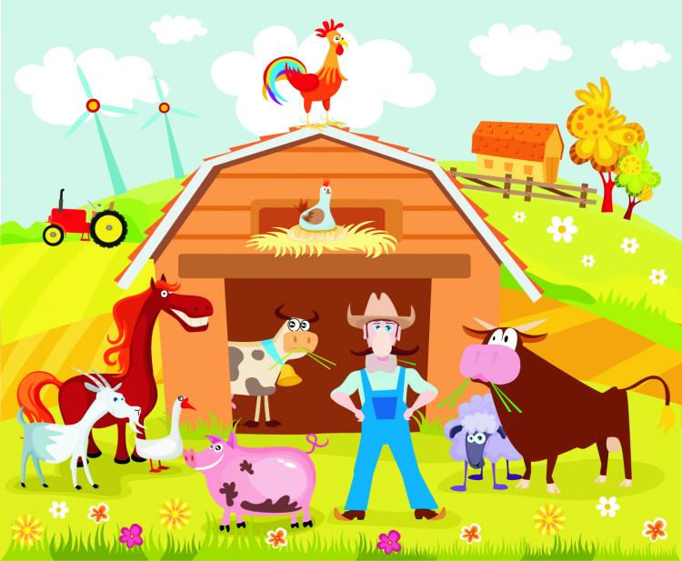 free vector Cartoon farm 02 vector