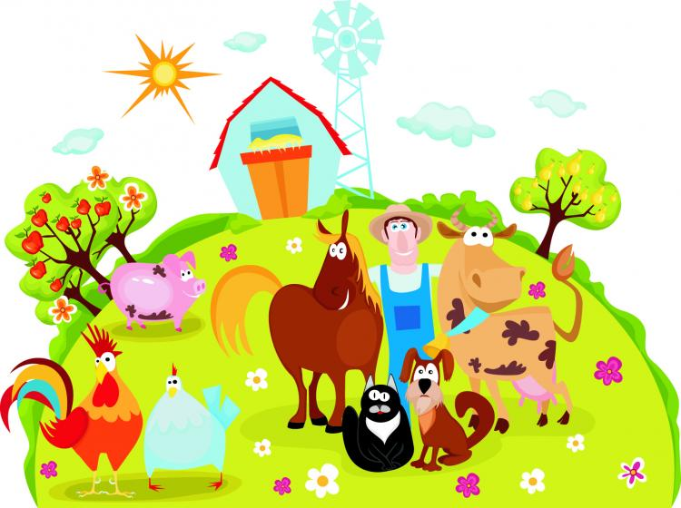 free vector Cartoon farm 04 vector
