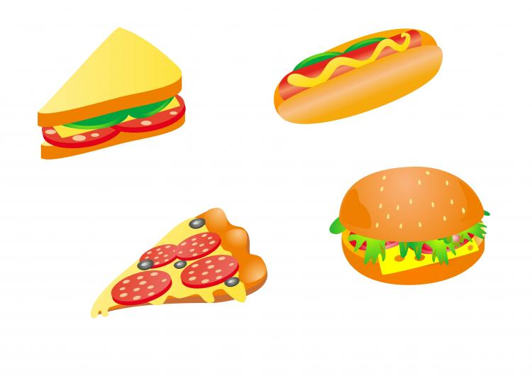 free vector Cartoon fast food 03 vector