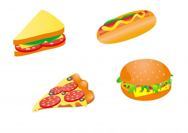 Cartoon fast food 03 vector free vector 4vector for Animation cuisine
