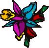 free vector Cartoon Flowers clip art
