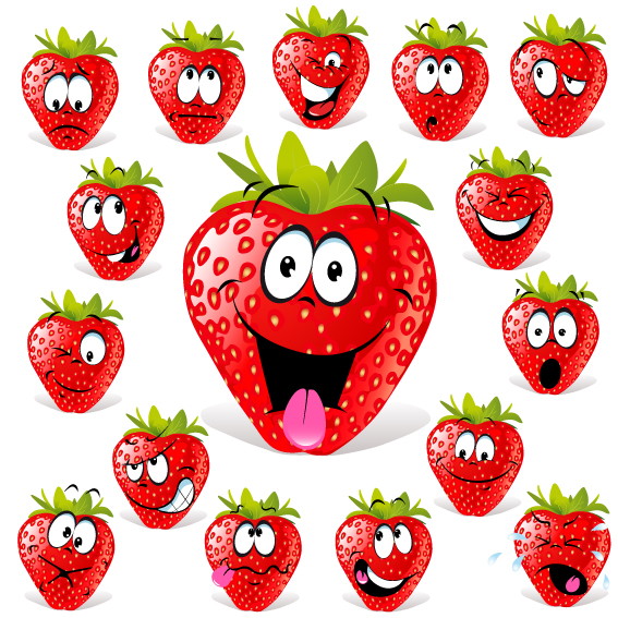 free vector Cartoon fruit expression 03 vector