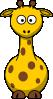 free vector Cartoon Giraffe clip art