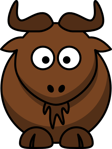 free vector Cartoon Gnu clip art