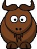 free vector Cartoon Gnu clip art