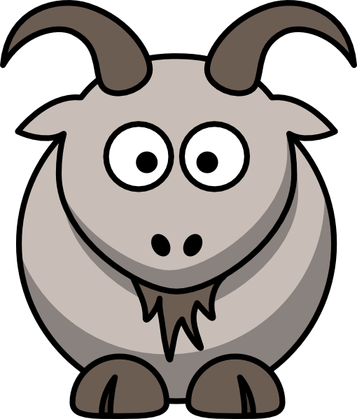 Cartoon Goat clip art Free Vector / 4Vector