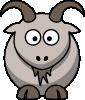 free vector Cartoon Goat clip art