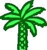 free vector Cartoon Green Palm Tree clip art