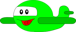free vector Cartoon Happy Airplane clip art