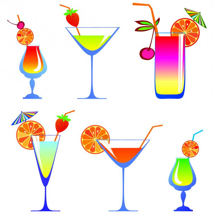 free vector Cartoon high glass and juice 01 vector