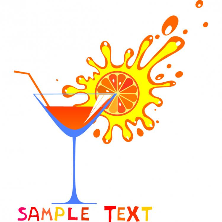 free vector Cartoon high glass and juice 03 vector