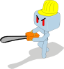 free vector Cartoon Icecube Baseball Player clip art
