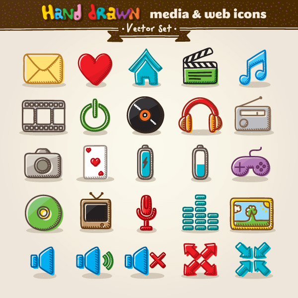 free vector Cartoon icon vector 1