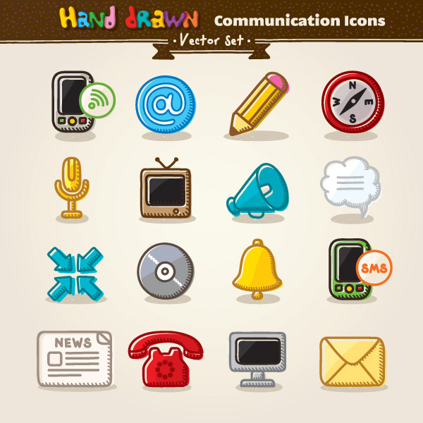 free vector Cartoon icon vector 5